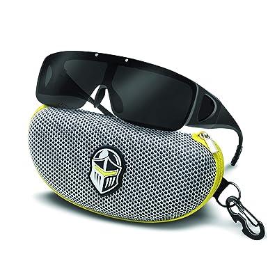 c132c29c3 Amazon.com: BLUPOND Wrap Around Oversized Anti Glare Sunglasses Fit ...