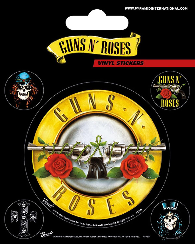 Empireposter Guns N Roses Bullet Logo Stickerset Set Mit 5 Sticker Aufkleber 10x12 5 Amazon De