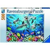Ravensburger Italy 147106 - Puzzle Delfini, 500 Pezzi, Multicolore