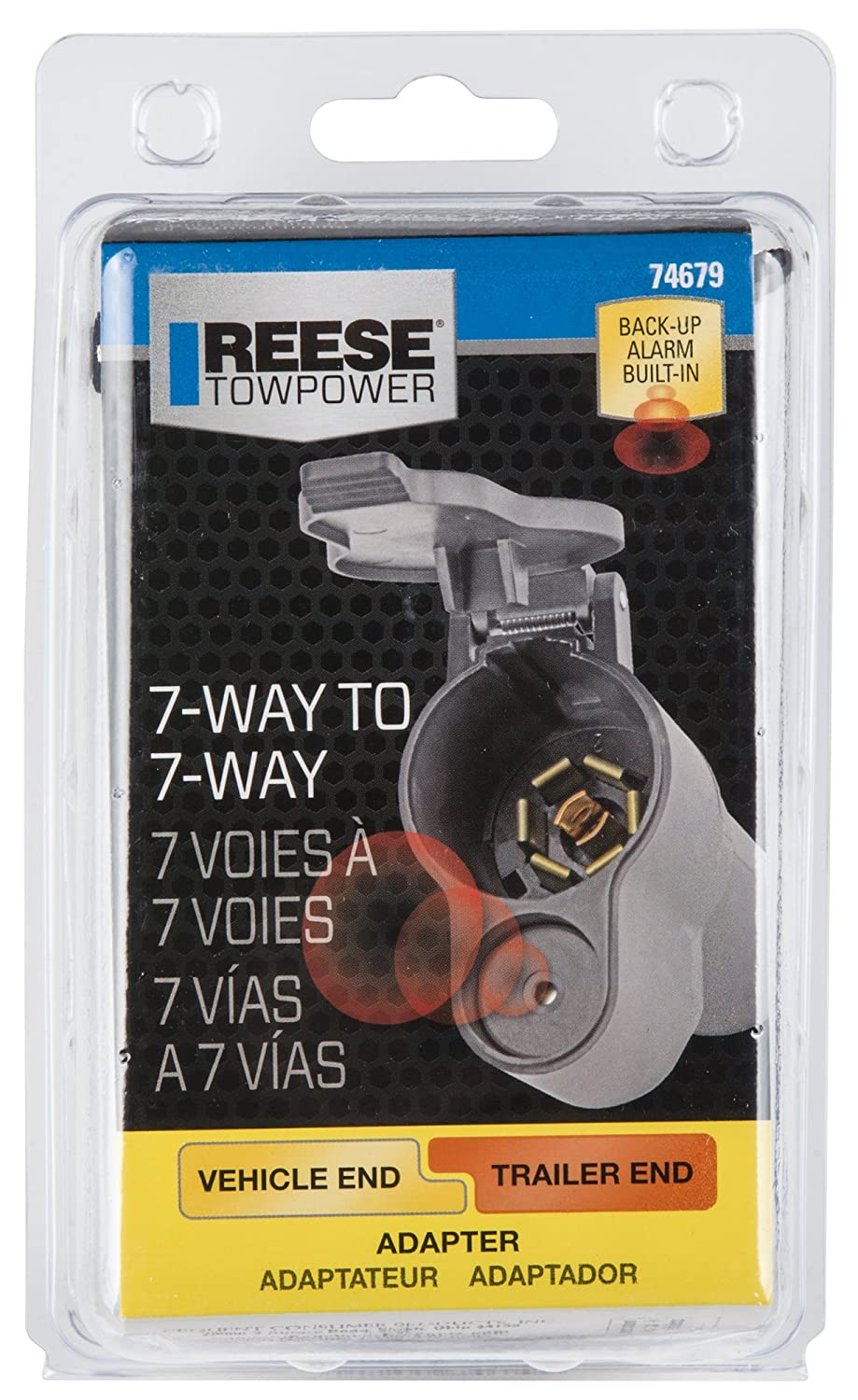 Reese Towpower 74679 7-Way Blade Instant Add-on Back-up Alarm Adapter