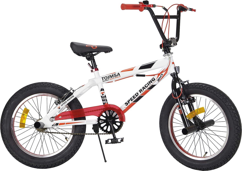 TOIMSA - Bicicleta BMX Freestyle de 18 Pulgadas, 6 a 8 años, 538, Multicolor: Amazon.es: Juguetes y juegos