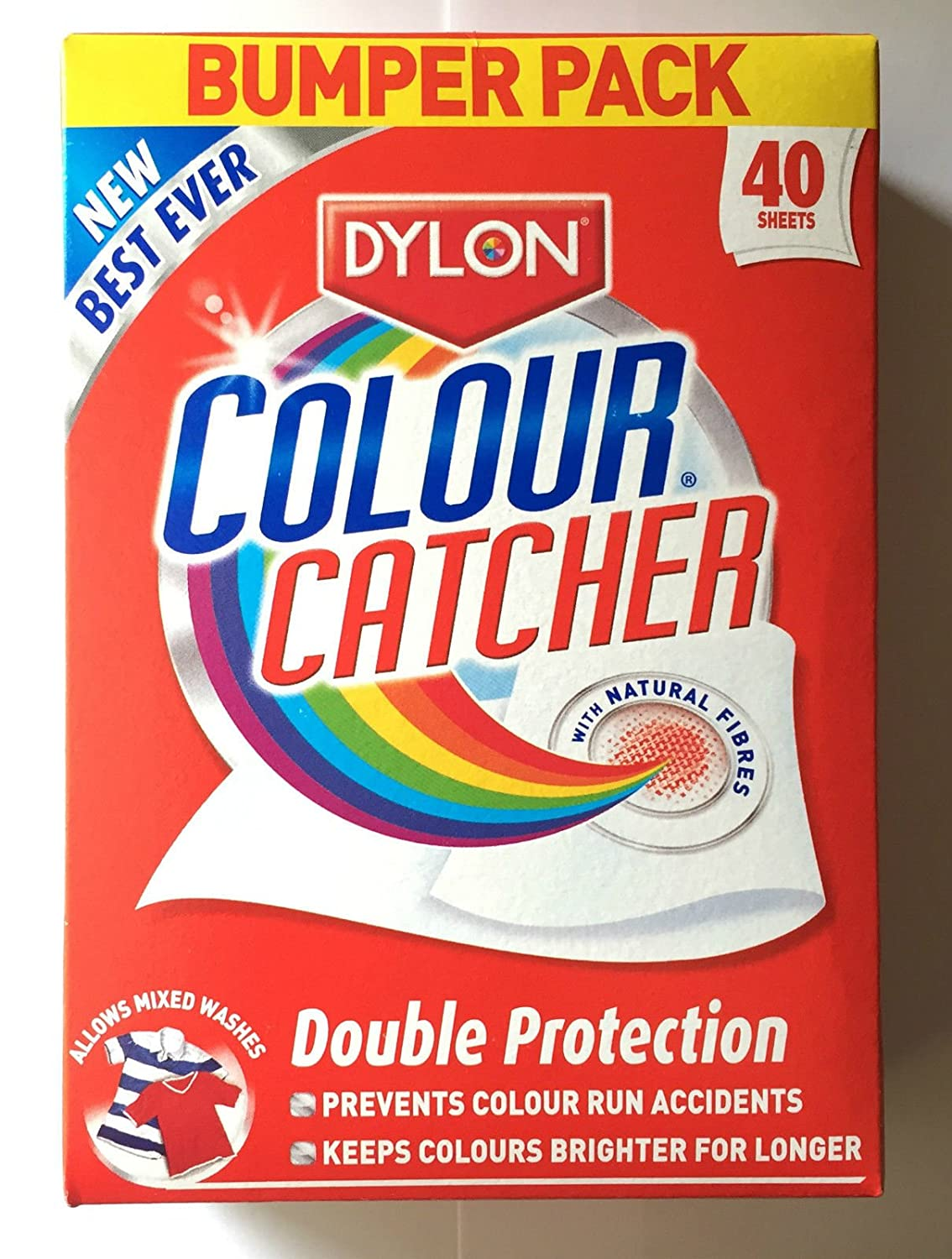 Colour catcher sheets - Dylon Colour Catcher Bumper Pack Of 40 As Seen On Tv The Uk S Number One Colour Catcher Amazon Co Uk Kitchen Home