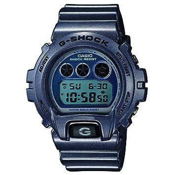 Casio DW-6900MF-2ER Reloj con Correa de Caucho, Hombre, Azul: Amazon.es: Deportes y aire libre