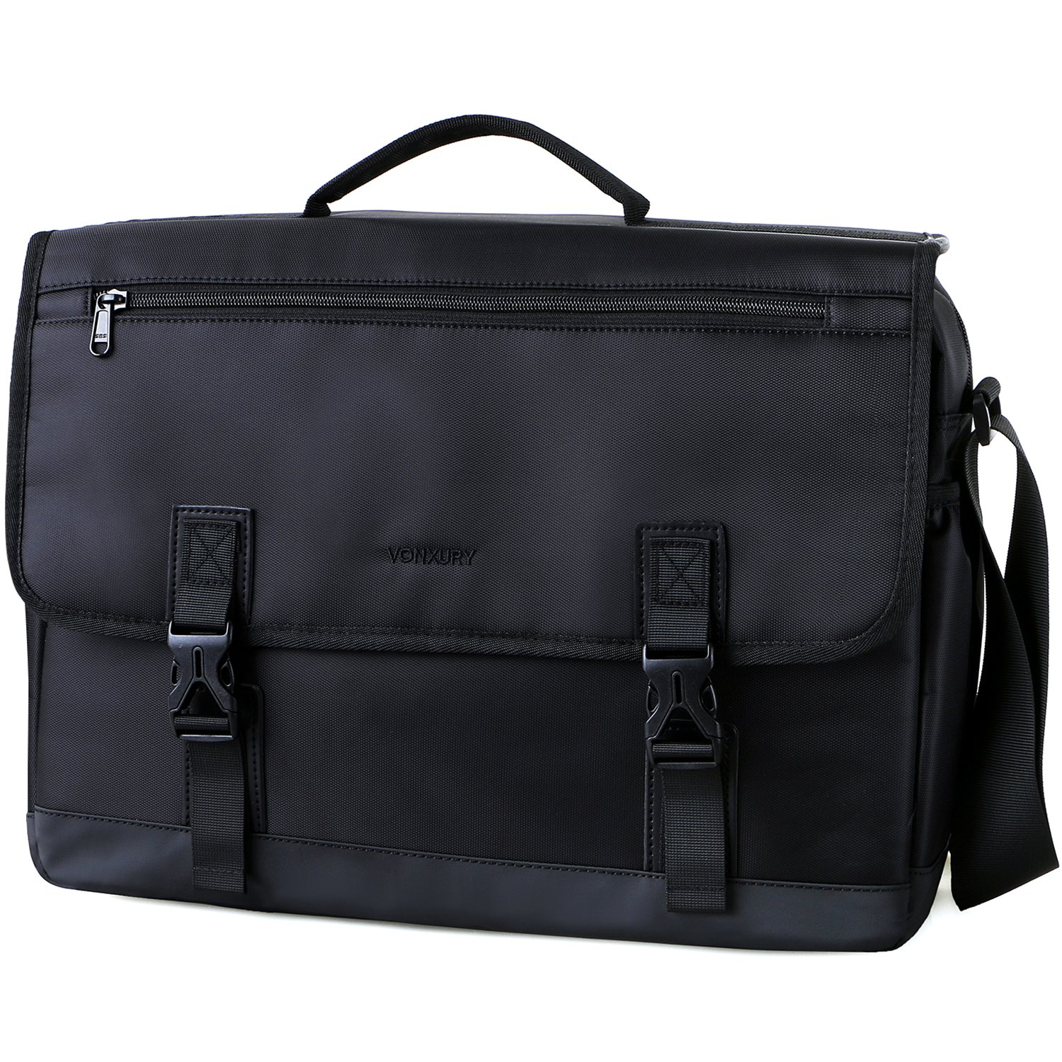Messenger Bag for Men,Water Resistant 15.6 Laptop Bag Lightweight School Bag Vonxury VX VONXURY VXMB001GRNL