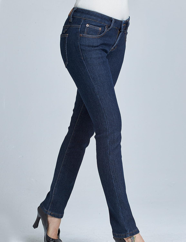 Camii Mia Vaqueros Forrados Mujer con Franela No Elástico Slim Jeans
