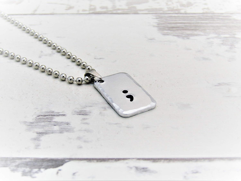 Semi Colon Necklace