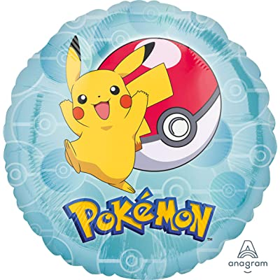 17inch Pokemon Pikachu Pokeball Foil Balloon: Toys & Games