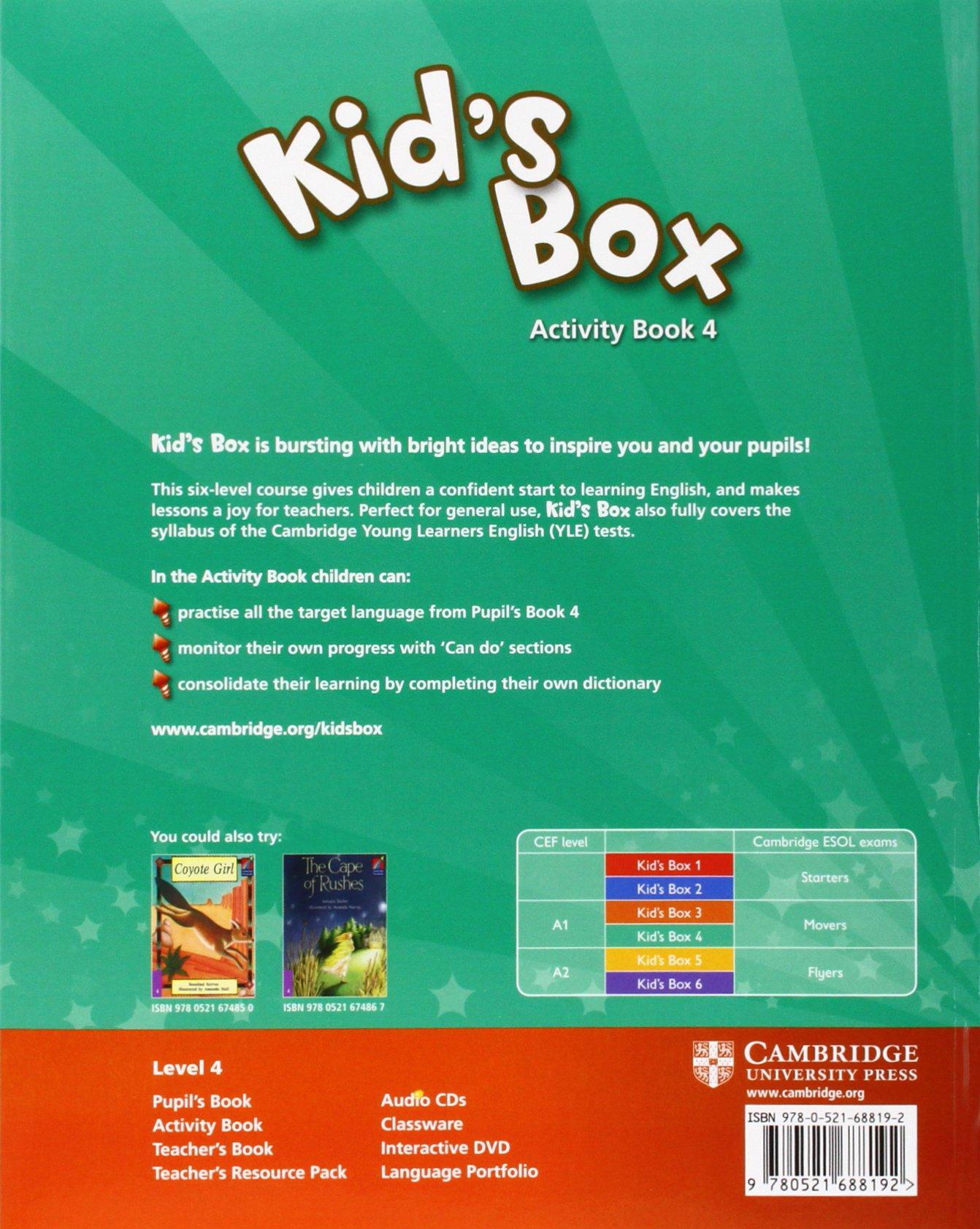 Kid's Box 4 Activity Book: Level 4 - 9780521688192: Amazon.es: Caroline  Nixon, Michael Tomlinson: Libros en idiomas extranjeros