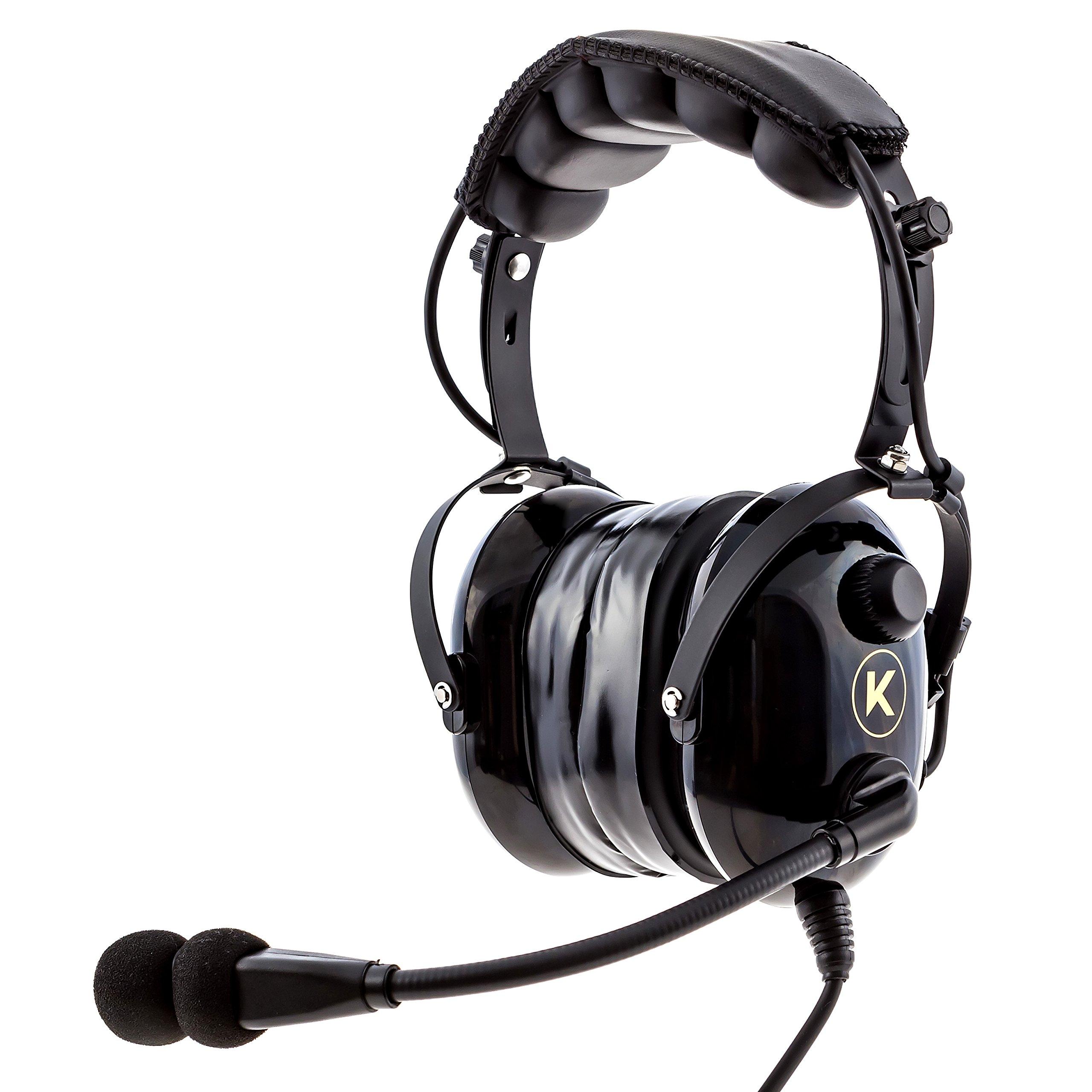 galleon kore aviation ka 1 premium gel ear seal pnr pilot aviation headset with mp3 support. Black Bedroom Furniture Sets. Home Design Ideas