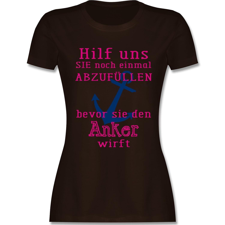 Shirtracer JGA Junggesellinnenabschied - Hilf Uns Sie abzufüllen - Damen T- Shirt Rundhals: Shirtracer: Amazon.de: Bekleidung