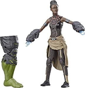 "Marvel Legends Series Black Panther Shuri 6"" Collectible Action Figure Toy for Ages 6 & Up with Accessories & Build-A-Figurepiece"