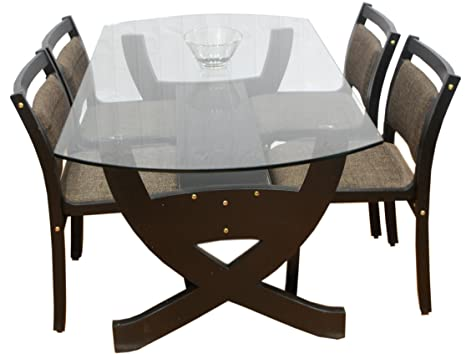 Bentwood Designer Ply Material 4 Seater Veneer Moulded Dining Table