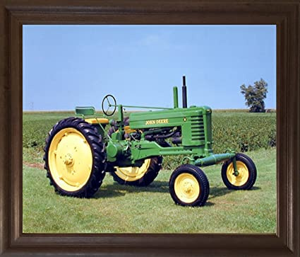 Amazon.com: Vintage 1947 John Deere Farming Tractor Wall Decor Brown ...