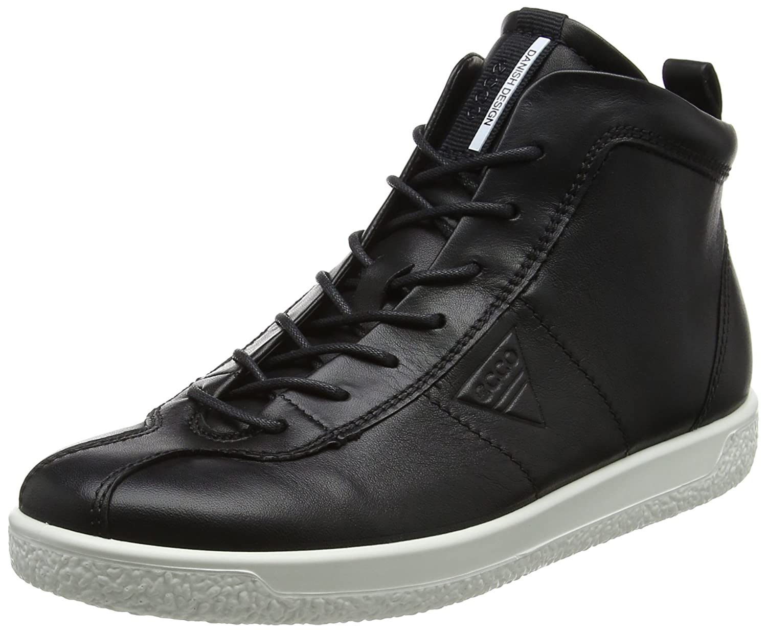BLACK ECCO Women's Soft 1 Ladies Hi-Top Trainers, Black (Black)