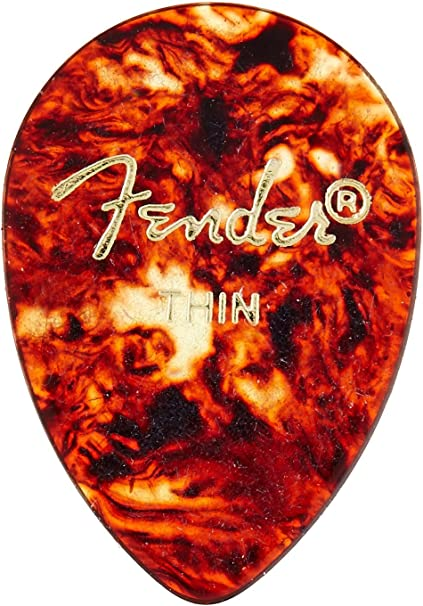 12-Pack Fender 358 Classic Celluloid Guitar Picks HEAVY 1 Dozen SHELL