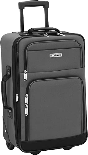 Leisure Luggage 21 Expedition Expandable Upright Luggage Luggage 21 Inches Charcoal