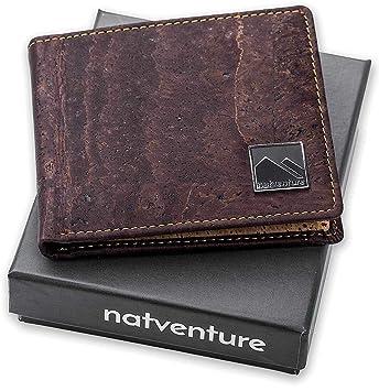 984d0160f3e23 natventure® Geldbeutel aus Korkleder mit RFID Schutz