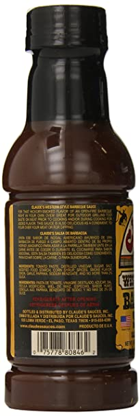 Amazon.com : Claudes Barbcue Sauce Bbq Sauce Sce Western, 16-Ounce (Pack of 6) : Barbecue Sauces : Grocery & Gourmet Food
