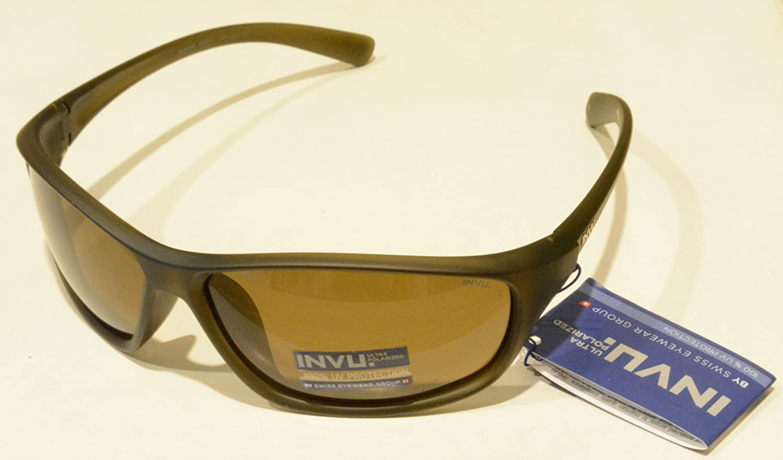 Gafas de sol polarizadas INVU a 2404 C Oliva Lentes 100% UV Block ...