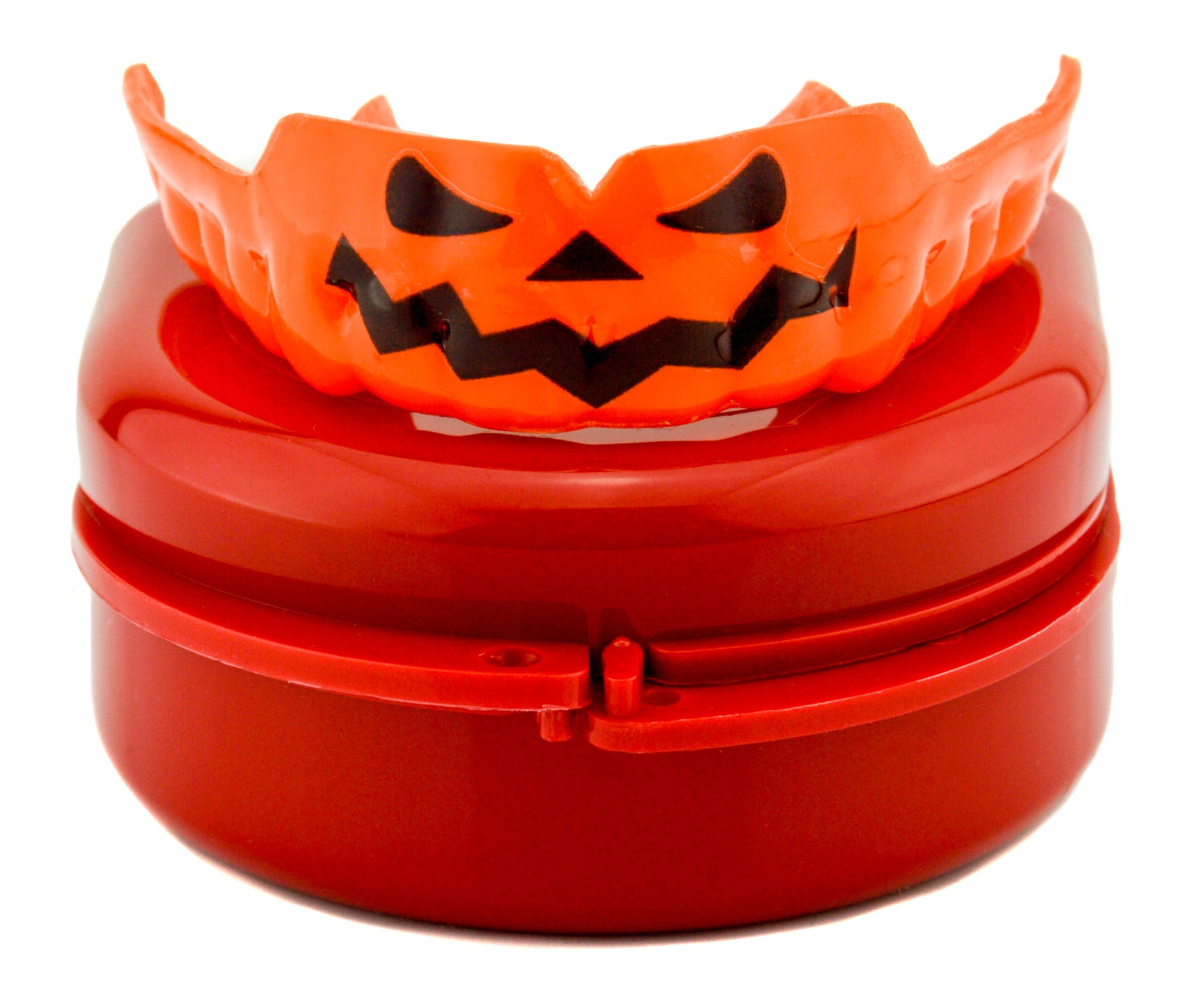 Impact Custom Professional 4mm Thin Profile Roller Derby Mouthguard Jack-O-Lantern by Impact Custom Mouthguards