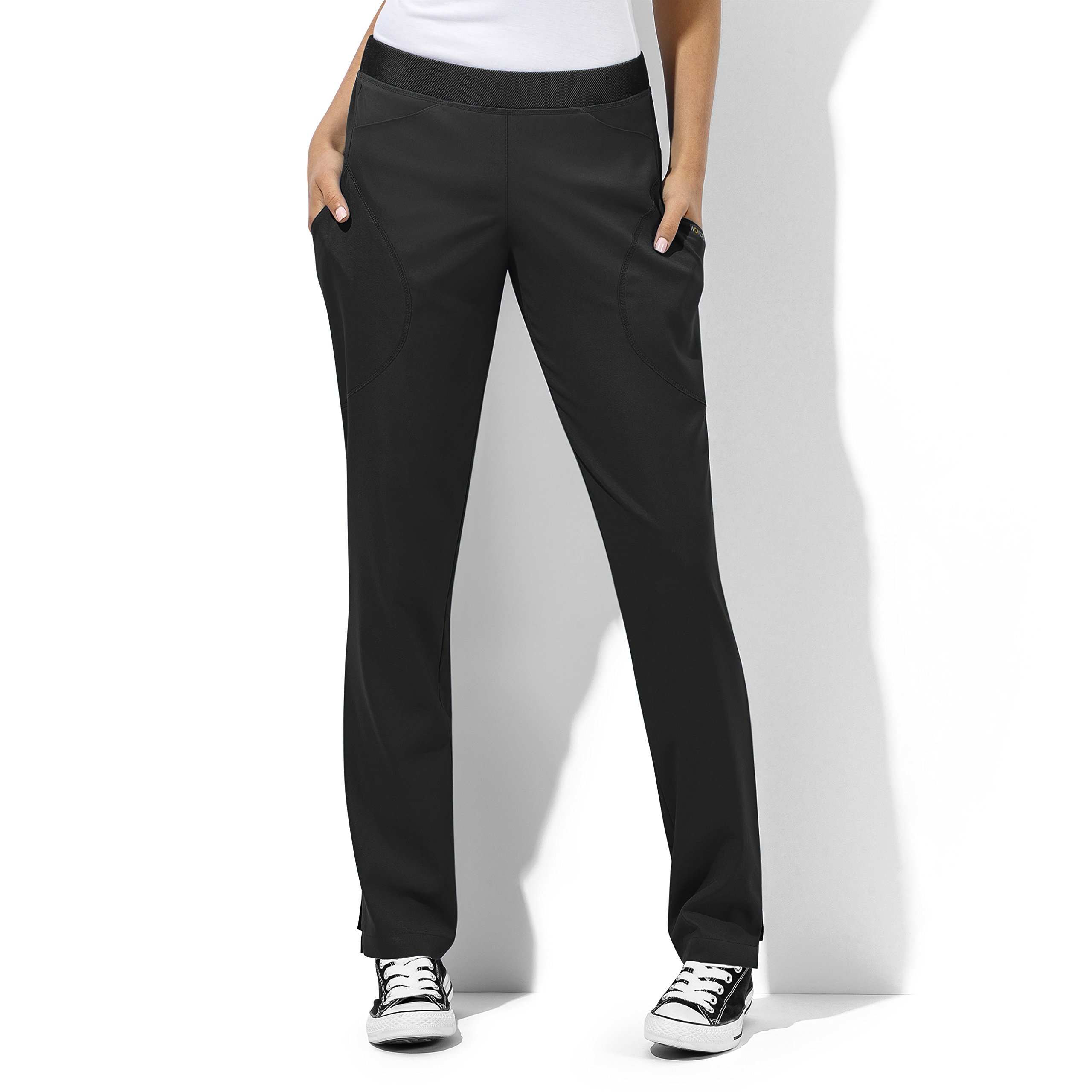 WonderTech Women's 5113 6 Pocket Straight Leg Pant- Black- Medium