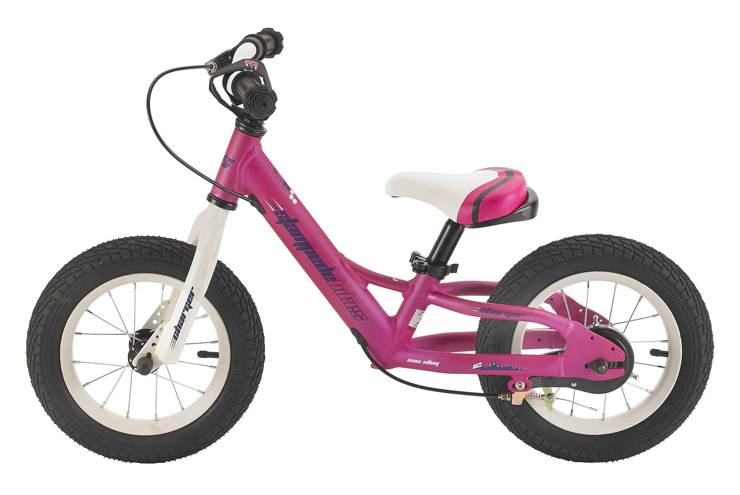 Stampede Bikes Charger Kids Balance Bike, 12'', Pink