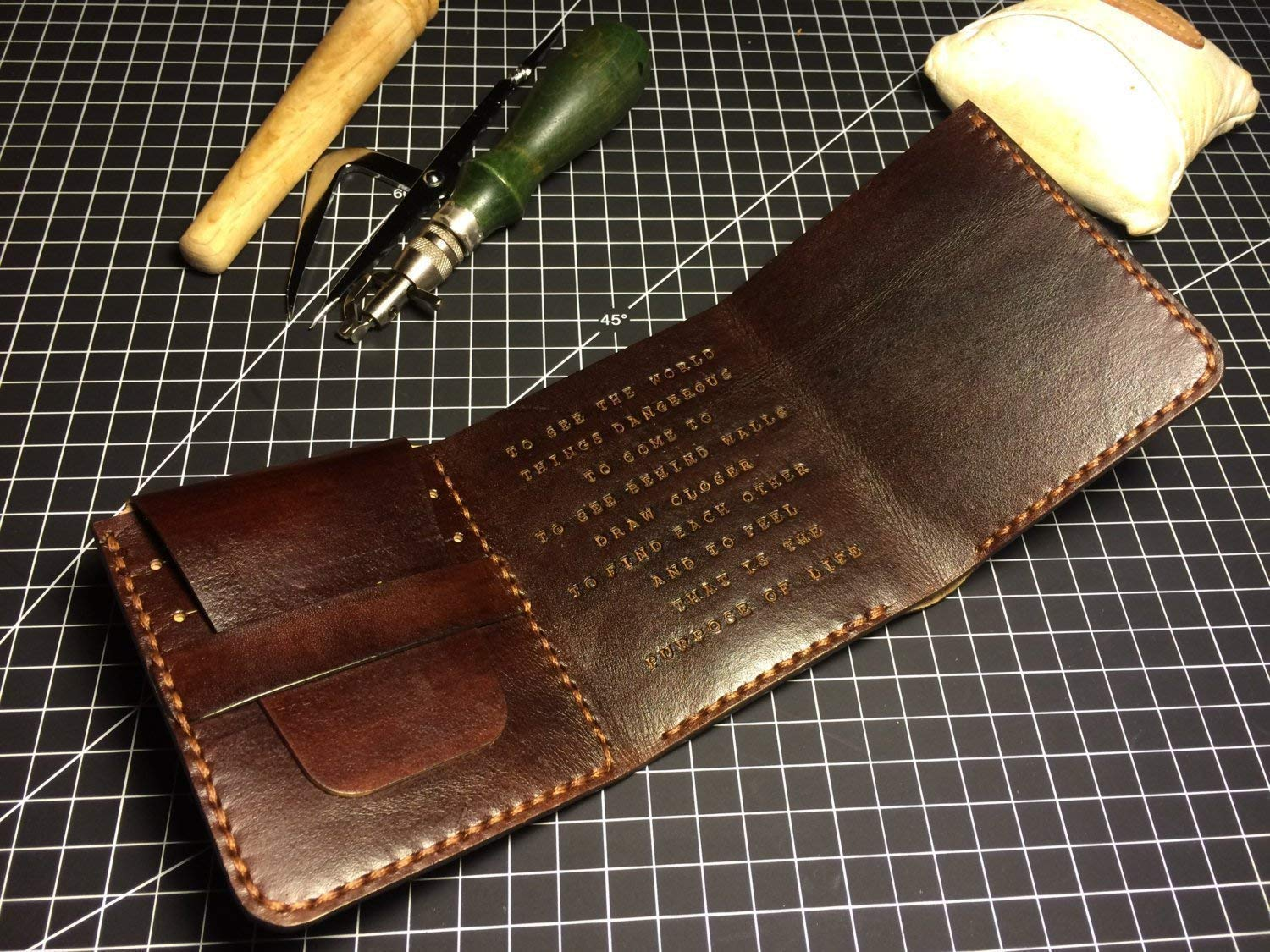 Walter Mitty Wallet/Personalized Handmade Leather Wallet