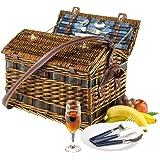Cestino da picnic Summer Time per persone di peso 4 3800 G di fissaggio interno con tracolla