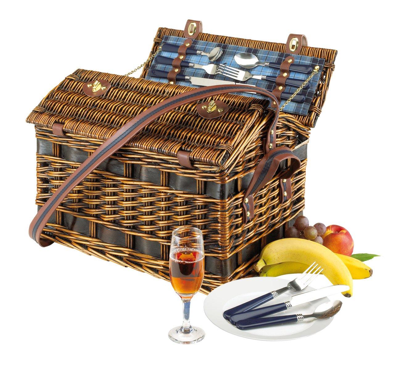 Cesta de picnic Summer time para personas{4} peso{3800} gramos interior con fijación para cinturón de seguridad