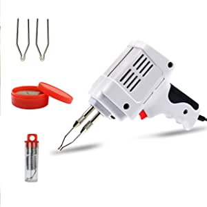 100W Electric Tin Soldering Iron Gun Accessories Manual Tin Gun Suction Tin Device Electric Welding Gun Tool Automatic Soldering Equipment Industrial Soldering Gun for Soldering Metalwork & Crafts Soldering Gun