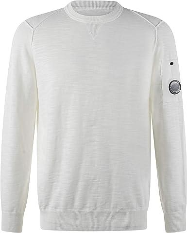 C.P. COMPANY - Camiseta con efecto de sudadera de algodón: Amazon ...