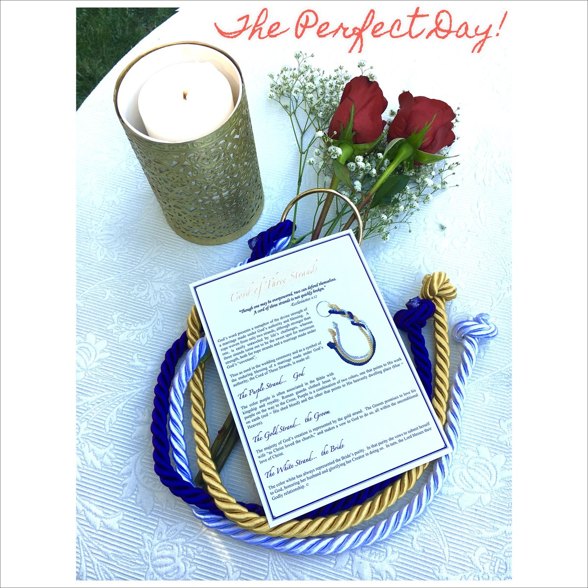 Amazon A Stunning Cord Of Three Strands Wedding Knot With Ceremony Card By Bells Pro Kitchen Dining
