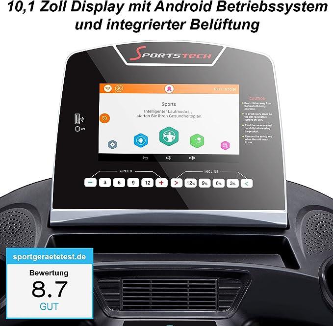 Sportstech F48 cinta de correr profesional con 9 pulgadas Android ...