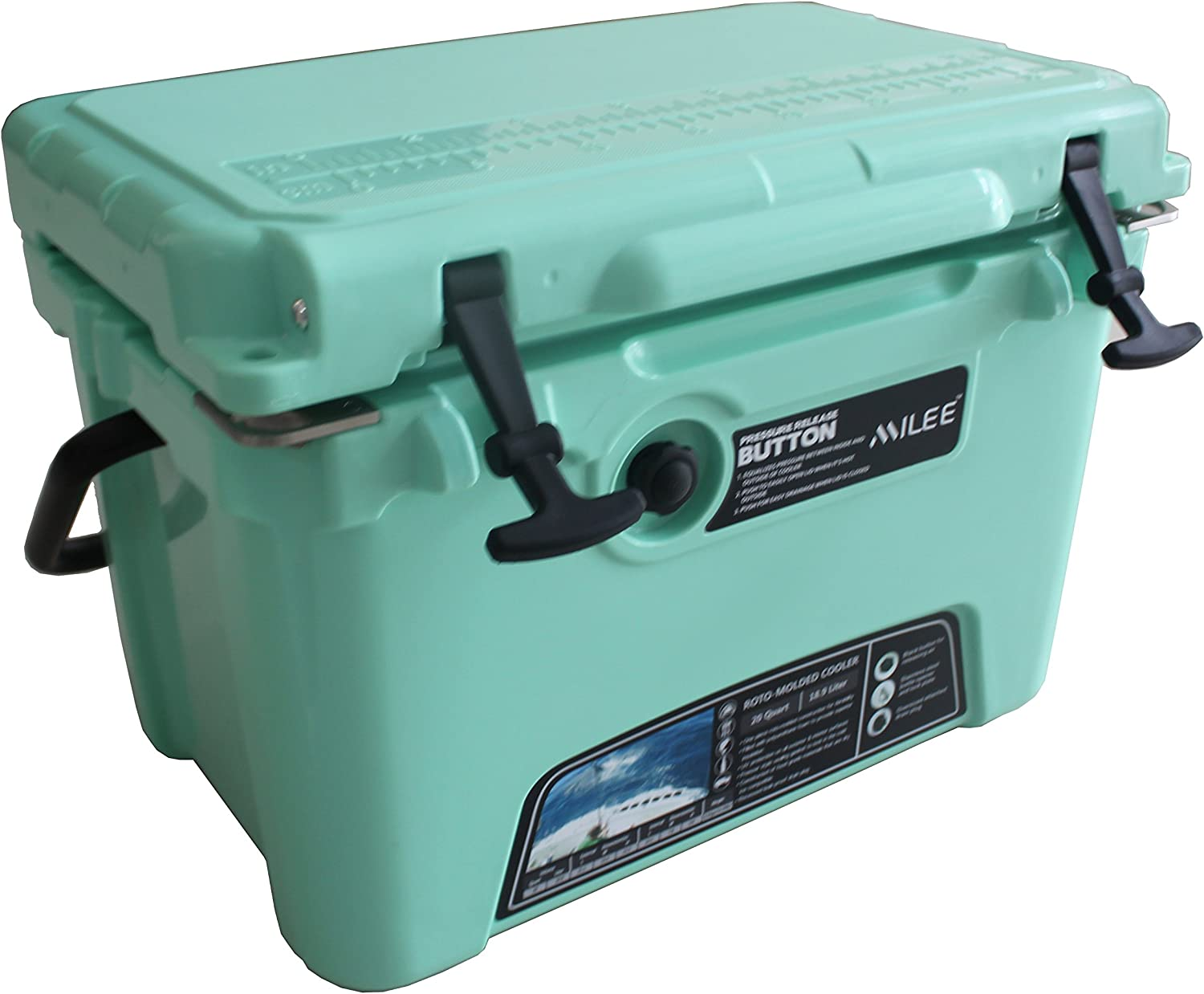 MILEE Heavy Duty Cooler Box-20QT 28 Accessories Included Basket and Cup Holder are Free