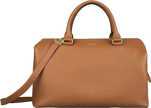 Lipault Plume Elegance Bowling Bag Medium Top Handle Shoulder Boston Handbag for Women