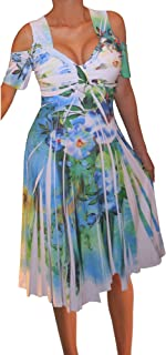 product image for Funfash Plus Size Women Cold Shoulders White Floral Cocktail Cruise Dress…