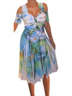 5b07ac6d1e6 ... Slimming Olive Sage Green Peacock Cocktail Cruise Dress.  49.00 · Funfash  Plus Size Women Cold Shoulders White Floral Cocktail Cruise Dress…