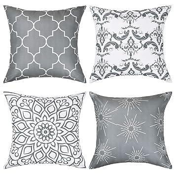 Amazon.com: Funda de almohada decorativa moderna para ...