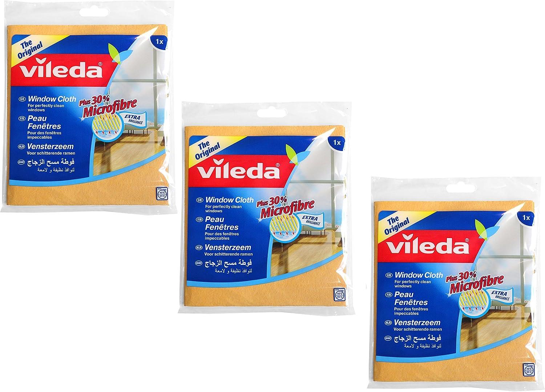 Vileda Panno Vetri - Balletas multiusos limpieza, pack de 3: Amazon.es: Salud y cuidado personal