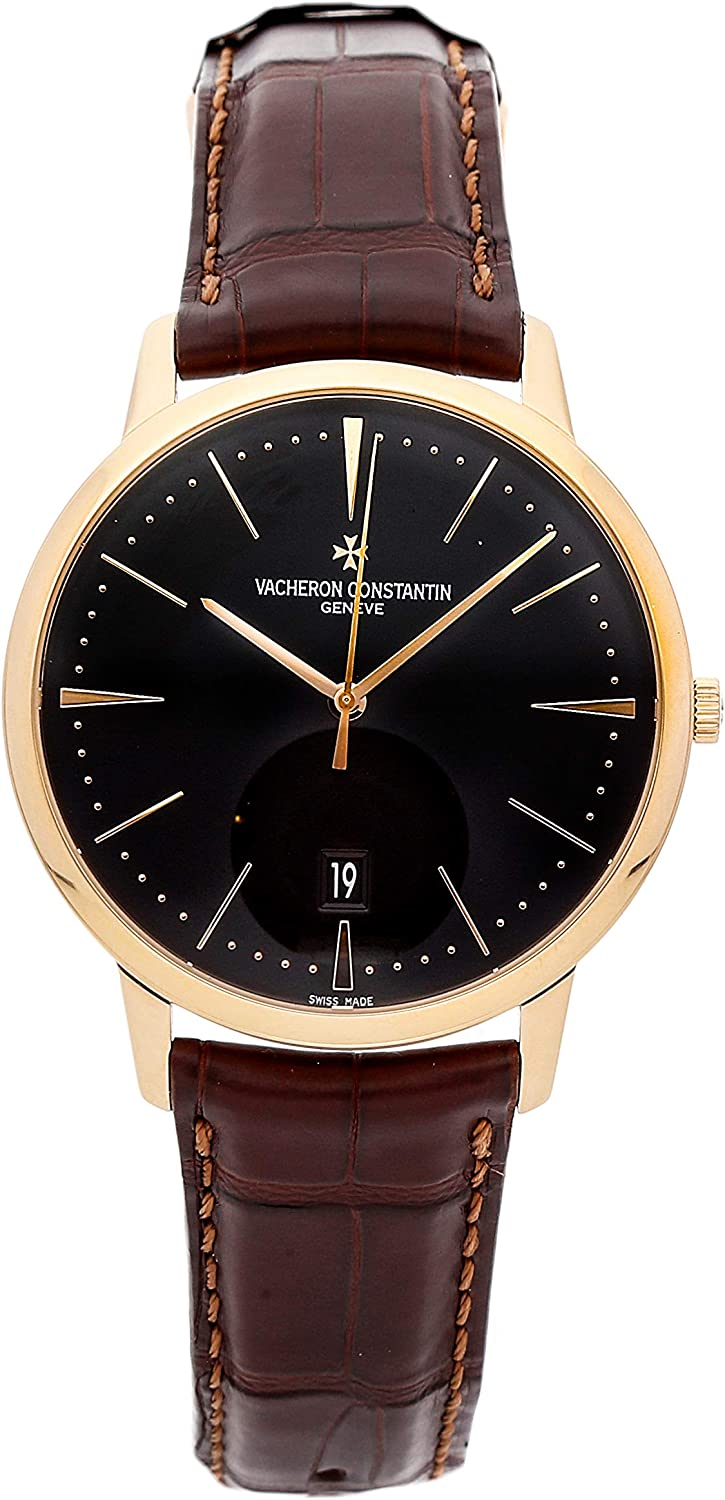 Vacheron Constantin Patrimony Mechanical (Automatic) Black Dial Mens Watch 85180/000R-9166 (Certified Pre-Owned)