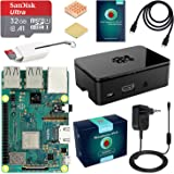 ABOX Raspberry Pi 3 Modello B+ (Plus) Starter Kit Barebone Madre con SanDisk Micro SD Card 32GB Class 10, Custodia e Power Supply 5V 3A con Interruttore