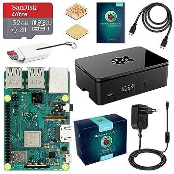 Globmall – Abox Raspberry Pi 3, modelo B Starter Kit, 32 GB ...