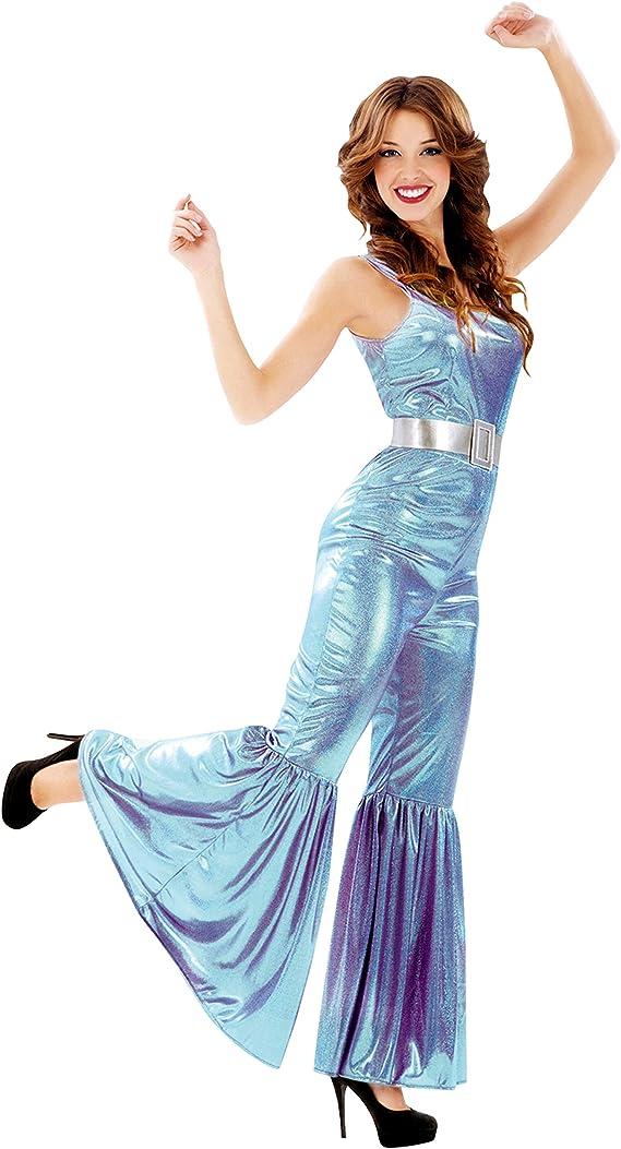 Partychimp MOM00530 - Disfraz de Disco, mujer, talla M-L: Amazon ...