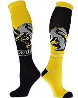 Harry Potter Hufflepuff House Knee High Socks, Multi, Shoe Size 4-10