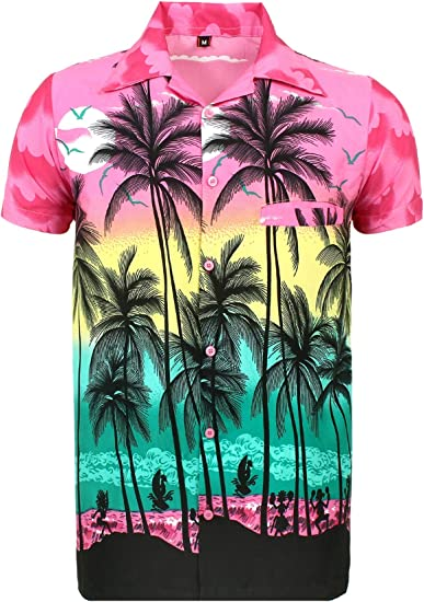 Kiklo - Camisa hawaiana hawaiana para niños y niñas, para fiestas de verano, vacaciones Pi Palm 2-3 Años: Amazon.es: Ropa y accesorios
