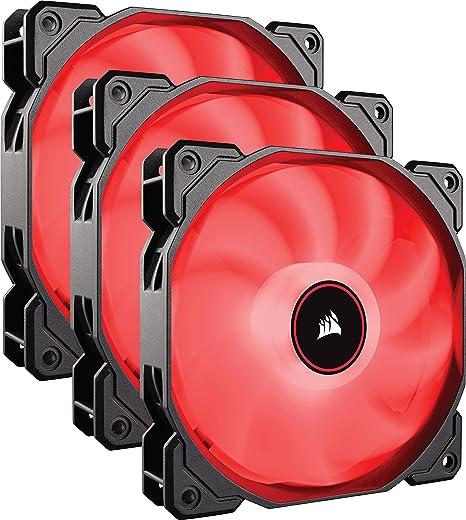 Corsair Af120 Air Series Led Geräuscharmer Lüfter Rot Computer Zubehör