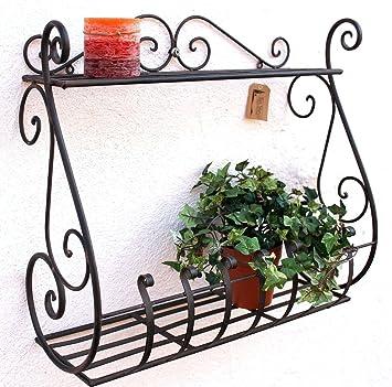 Wandblumenhalter Sebino Blumenst/änder aus Metall Wandregal Blumenregal Regal