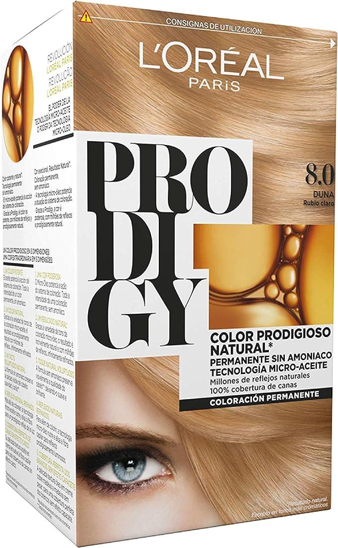 LOreal Paris Prodigy Coloración Sin Amoniaco 8.0 Rubio Duna ...