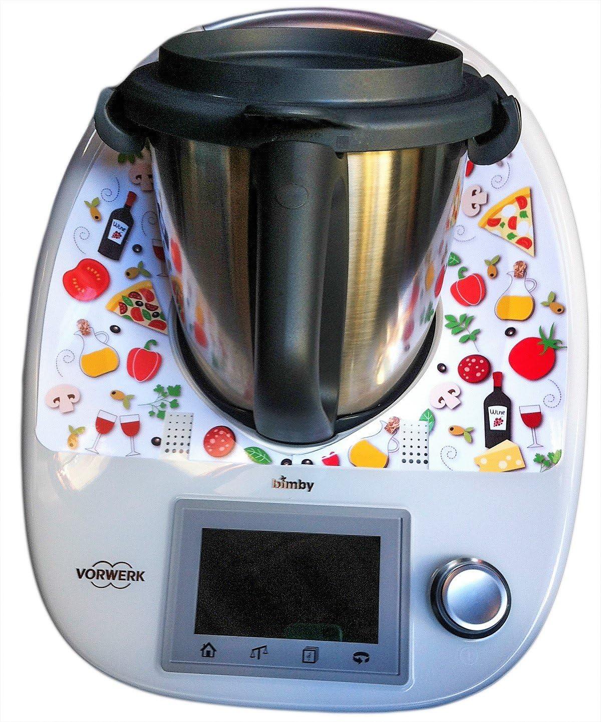 Pegatina Sticker Adhesivo de Vinilo para Thermomix TM5 y TM6 - Colección Gastronomia - Italia: Amazon.es
