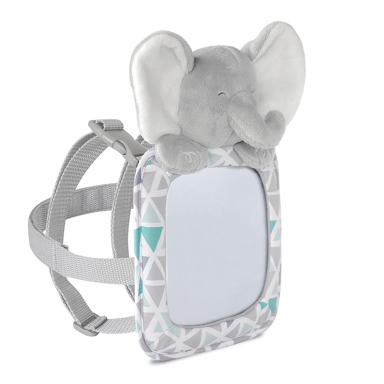 Carter's Rear Facing Mirror, Plush Animal Elephant, Grey/White Goldbug CR03463-1SZ-AMZ